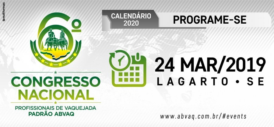 Edital para o 6º Congresso Nacional ABVAQ, em Lagarto - SE