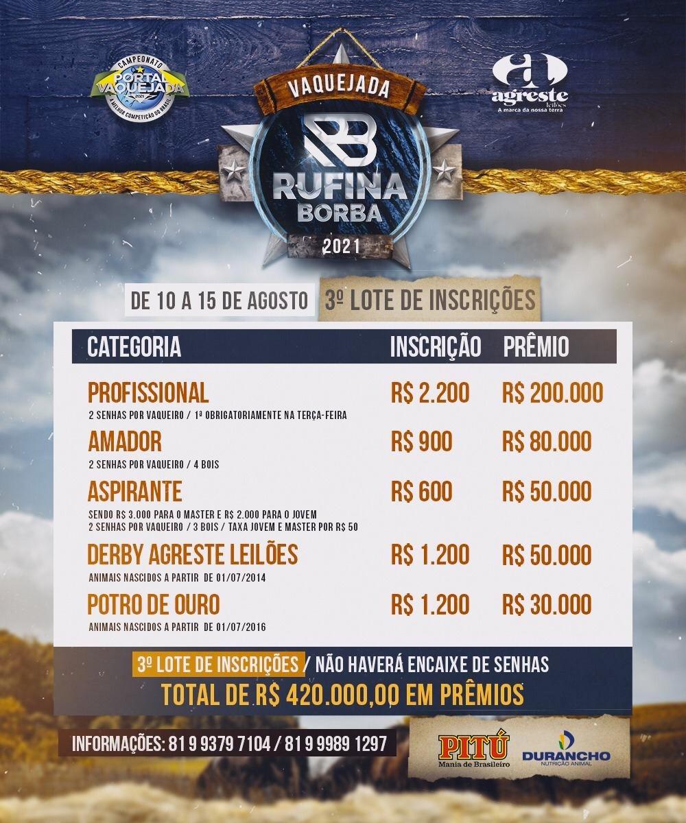 47ª Vaquejada do Rufina Borba