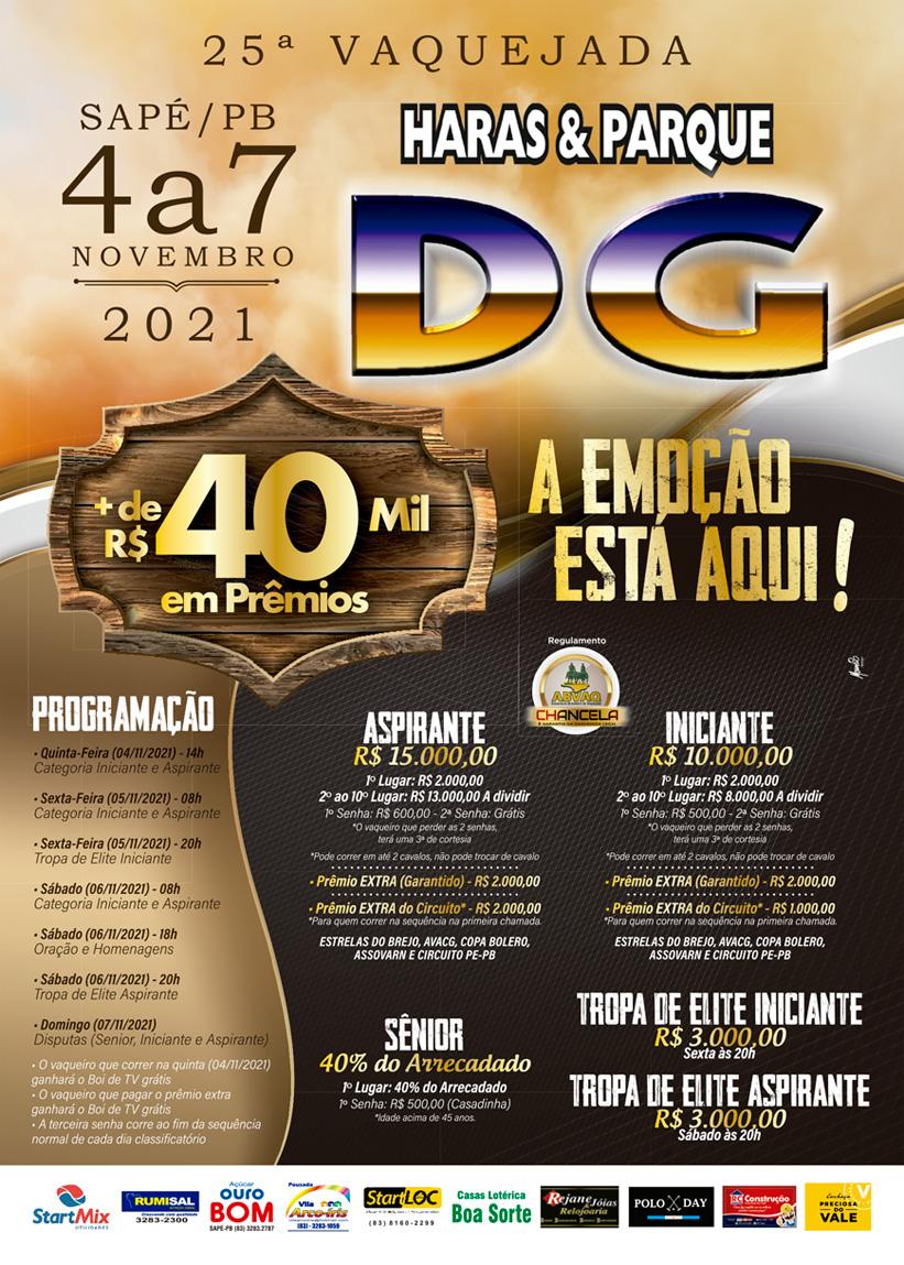 25ª Vaquejada Haras e Parque DG