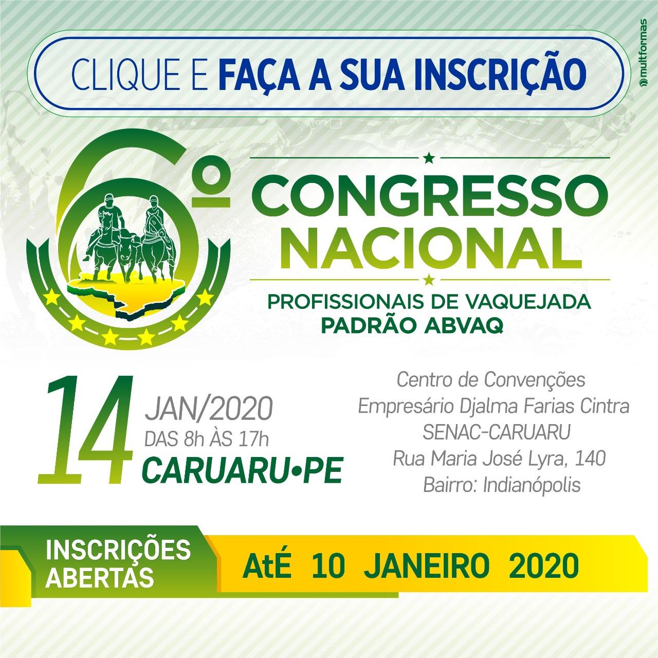 6º Congresso Nacional ABVAQ - Edição Caruaru - PE