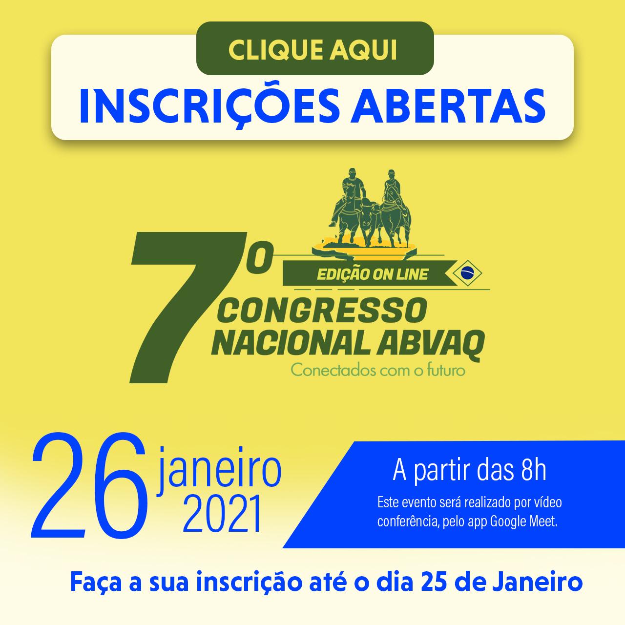 7º Congresso Nacional ABVAQ - Edição 2021 - Versão 100% online